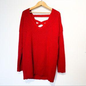 TORRID 2X Red Knit Sweater